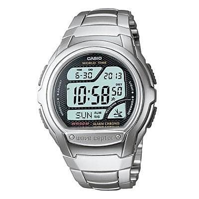 Casio® Multi-Band Atomic Timekeeping Digital Sports Watch, Silver (WV58DA-1AV)