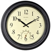 "Chaney Instruments Acurite® Indoor/Outdoor 18""Dia x 2 1/2""D Black Analog Atomic Wall Clock (50308A2)"