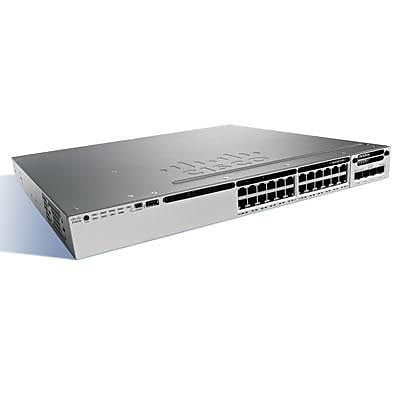 Cisco™ Catalyst® 3850 WS-C3850-24U-S 24 Port Gigabit Ethernet UPOE Stackable Managed Switch with IP Base