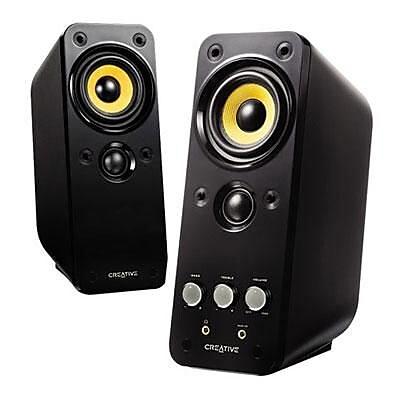 Creative® Gigaworks Series II T20 28 W 2.0 Multimedia Speaker, Glossy Black