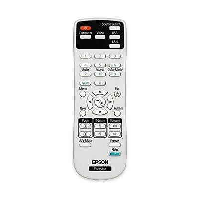 Epson 1547200 Replacement Remote Control for PowerLite/BrightLink Projector, White