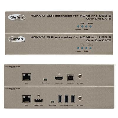 Gefen® 330' Extra Long Range Rack-Mountable KVM Extender for HDMI and USB Over Cat5 Cable