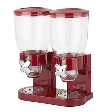 Honey Can Do® The Original Indispensable 17.5 oz. Double Dispenser, Red/Chrome (KCH-06125)