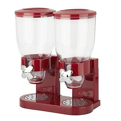 Honey Can Do® The Original Indispensable 17.5 oz. Double Dispenser, Red/Chrome (KCH-06125)