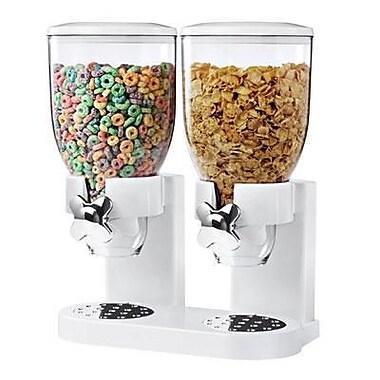 Honey Can Do® The Original Indispensable 17.5 oz. Double Dispenser, White/Chrome (KCH-06123)