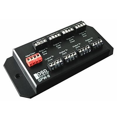 OSD Audio® SPW8 300 W 8-Zone Speaker Distribution Panel, Black
