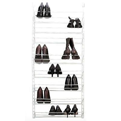 Grayline® Door/Wall Mountable Shoe Rack, White (412284)