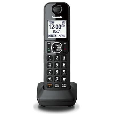 Panasonic® KXTGFA30B DECT 6.0 Additional Digital Cordless Handset For KX-TGF34 Phone, Black