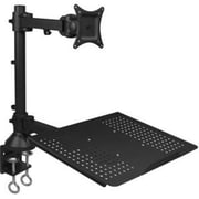 "SIIG® CEMT1T12S1 13"" - 27"" Full Motion Articulating Monitor and Laptop Desk Mount, Black"