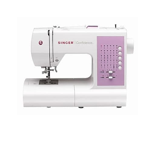 Singer® Confidence White Electronic Sewing Machine (7463.CL)