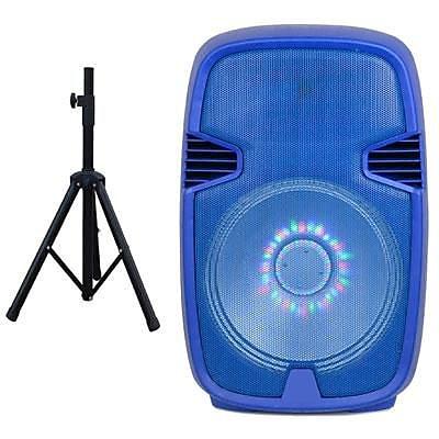 Supersonic® IQ3415DJBT 600 W Portable Bluetooth DJ Speaker, Blue