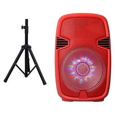 Supersonic® IQ3415DJBT 600 W Portable Bluetooth DJ Speaker, Red