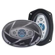 Supersonic® SC6904 1200 W 8-Way Car Stereo Speaker, Black