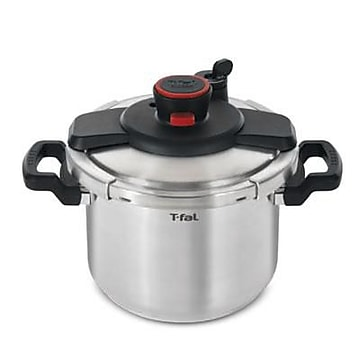 T-fal Clipso 6.3 qt Dishwasher Safe Pressure Cooker, Stainless Steel (P4500734)