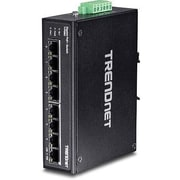 TRENDnet® TIPG80 8 Port Hardened Industrial Gigabit Ethernet Unmanaged PoE+ DIN-Rail Switch