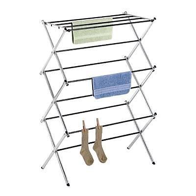 Whitmor Folding Clothes Drying Rack, Chrome (6060-741)