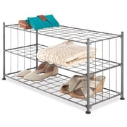 Whitmor 3 Level Storage Shelves, Steel Gray (6905-5916)