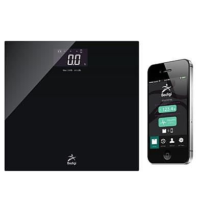 American Weigh Scales Bodigi™ ESSENTIAL Wireless Smart Scale, Black, 330 lbs.