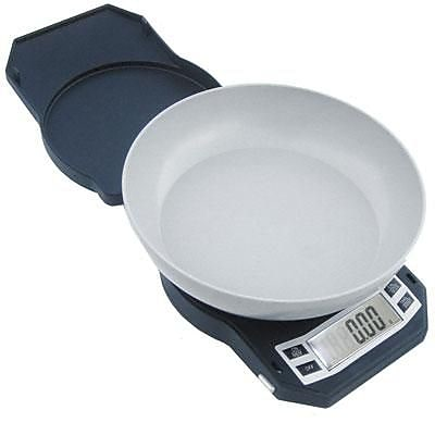 American Weigh Scales 17.64 oz. Compact Kitchen Bowl Scale, Black (LB-501)