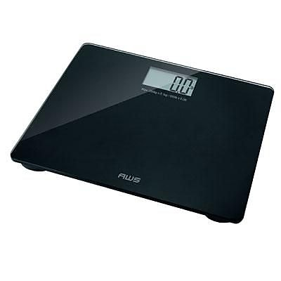 American Weigh Scales Om 200 Tempered Glass Bathroom Scale With X Large Display And 440 Pound