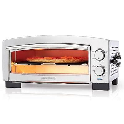 Black and Decker Pizza Oven and Snack Maker, Silver (P300S)