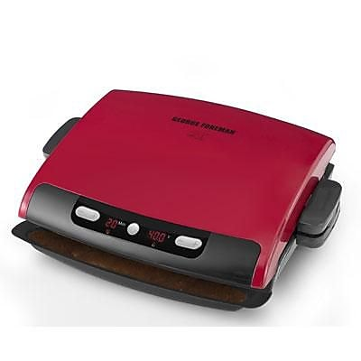 George Foreman® 6 Serving Removable Plate Grill, Red (GRP95)