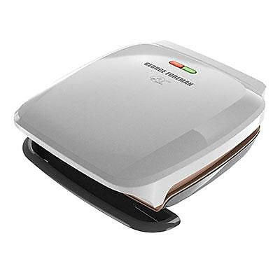 George Foreman® 4 Serving Classic Plate Grill, Silver (GR260P)