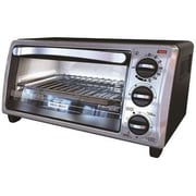Black & Decker™ 4-Slice Countertop Toaster Oven, Black/Silver (TO1313SBD)