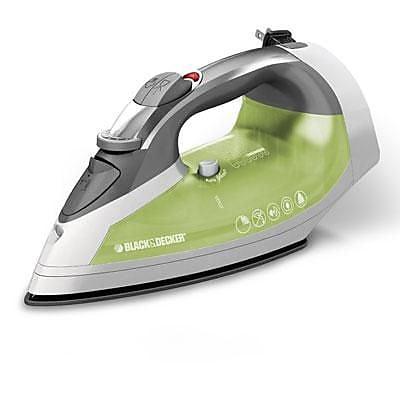 Black & Decker™ Xpress Non Stick Steam Cord Reel Iron; Green/White (ICR06X)