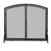 "Blue Rhino® Uniflame® 39"" Medium Single-Panel Fireplace Screen with Doors, Black (S1062)"