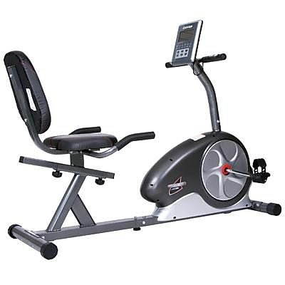 Body Flex Body Champ Magnetic Recumbent Bike, Gray/Black (BRB5872)