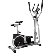 Body Flex Body Champ 2-in-1 Cardio Dual Trainer, Black/Silver (BRM2720)