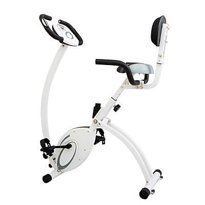 Body Flex 2-in-1 Folding Upright/Recumbent Bike, White/Black (XRB638)