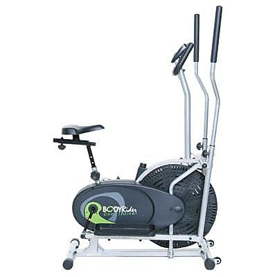 Body Flex Body Rider 2-in-1 Cardio Dual Trainer, Black (BRD2000)