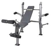 Body Flex Body Champ Standard Weight Bench, Gray (BCB500)