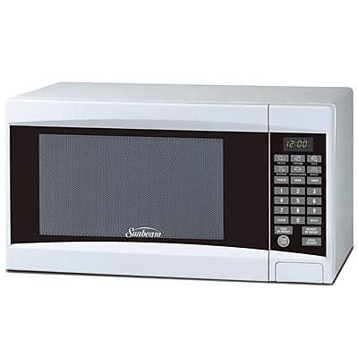 Brentwood Sunbeam® 0.7 cu. ft. Digital Microwave Oven, White (SGD2701)