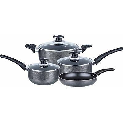 Brentwood Aluminum 7-Piece Cookware Set, Gray (BPS107)