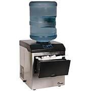 Chard 33 lbs. Ice Maker with Water Dispenser, Stainless Steel/Black (IM-15SS)