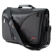 "Codi® Courier Black Ballistic Nylon/Polyurethane Leather Traditional Messenger Case for 15.4"" Notebook (C2500)"