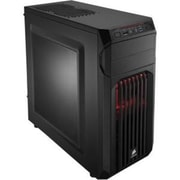 Corsair® Carbide Series® SPEC-01 Red LED Window Mid-Tower Computer Case, 6xBay, for Mini ITX Motherboard (CC-9011056-WW)