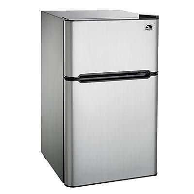 Curtis FR834I Double Section Compact Fridge, Stainless Steel