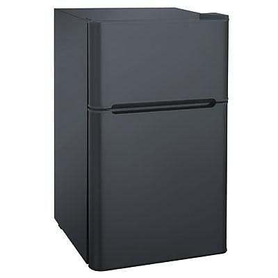 Curtis FR832 Full Width Double Section Mini Refrigerator, Black