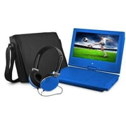 "Ematic EPD909 Portable 9"" VD Player with Matching Headphones and Bag, Blue"