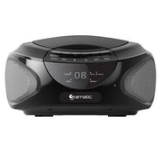 Ematic EBB9224 CD Boombox with Bluetooth Audio and Speakerphone, Black