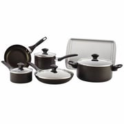 Farberware® 21806 Aluminum Dishwasher Safe Non Stick 15-Piece Cookware Set, Black