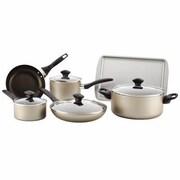 Farberware® 21805 Aluminum Dishwasher Safe Non Stick 15-Piece Cookware Set, Champagne