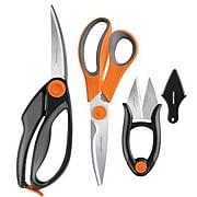 Fiskars 3-Piece Kitchen Shear Set, Orange/Gray/Black (5100611001)