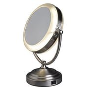 Floxite 8x Daylight Cosmetic Mirror, Brushed Nickel (7081-RP)