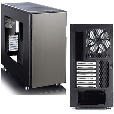 Fractal Design Define R5 Window Mid-Tower Computer Case, Titanium, 12xBay, for Mini ITX Motherboard (FD-CA-DEF-R5-TI-W)