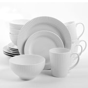 Gibson® Home Josephine Ceramic 16-Piece Dinnerware Set, White, 92574.16